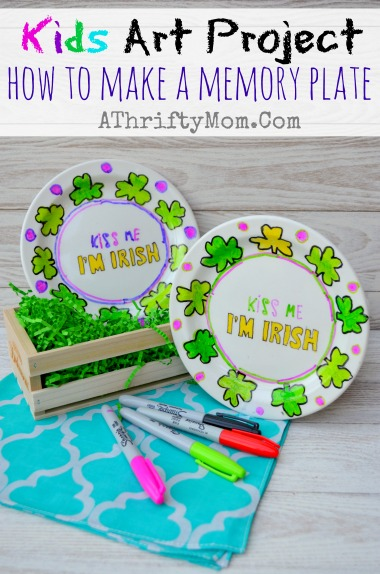 How To Make Memory Plate Kids Art Project A Thrifty Mom