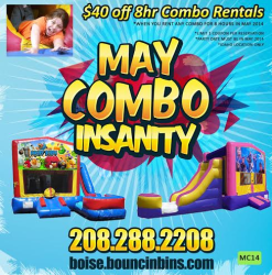 Bouncinbin 40 off rental for may