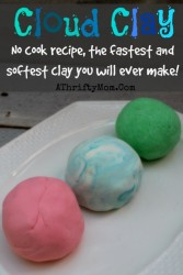 Cloud Clay recipe, only need two things to make this NO COOK recipe.  The fastest and softest clay you will ever make #Playdough, #Clay, #DIY, #Kids