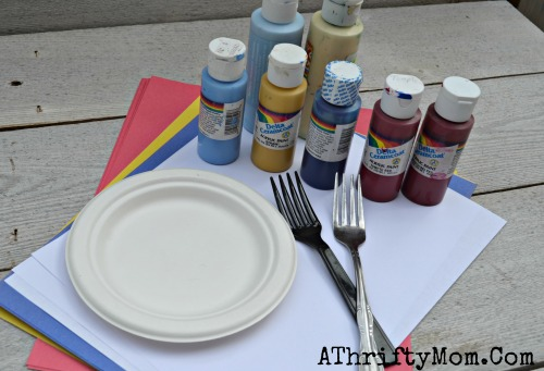 Fireworks Painted With A Fork Quick And Easy Craft Project For