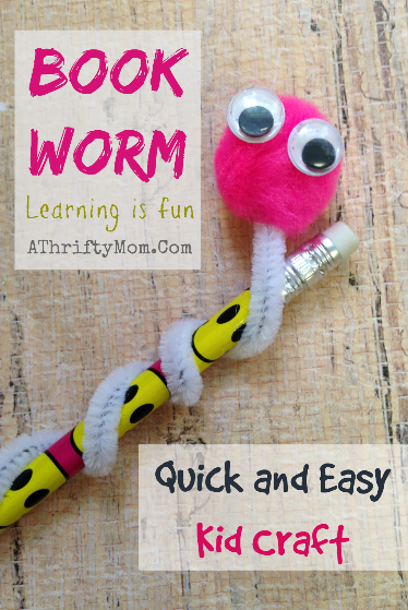 Book Worm Quick And Easy Kid Craft Kids Craft A Thrifty Mom