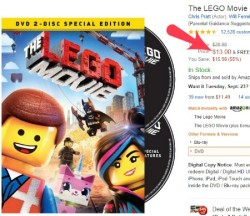 LEGO movie deal DVD BluRay combo pack Ultra Violet