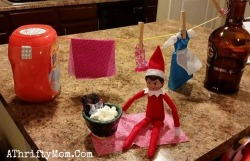 Elf on the Shelf easy ideas, What to do with your Elf, Silly Ideas for your Christmas Elf on the Shelf day 13      .jpf