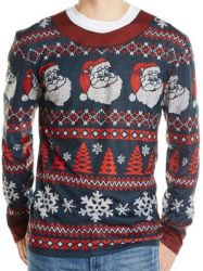 ugly christmas sweaters for a Holiday party, Faux Ugly Sweater is really a comfortable t shirt,  Where for find an Ugly Sweater Gag Gift