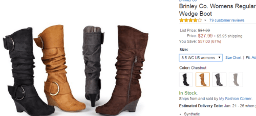 Mid calf boots with heel