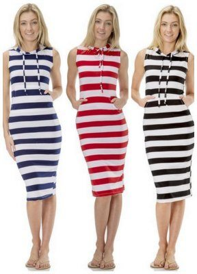 Stretch Jersey Hoodie Maxi Dress Cover Up