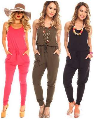 sleeveless pant rompers
