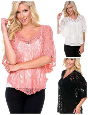 3 4 Sleeve Lace Top