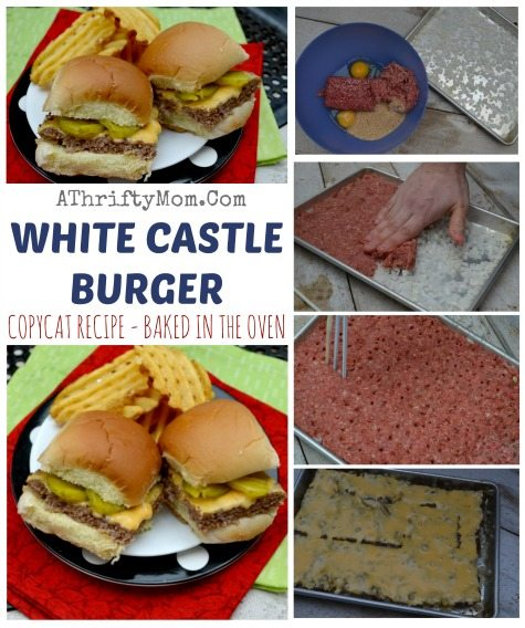 1163e05c6402b6 White Castle Burger Copycat Recipe - Baked in the oven - so easy - A ...