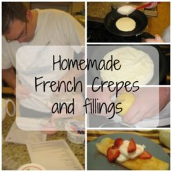 Home made French Crepes and Filling Recipe