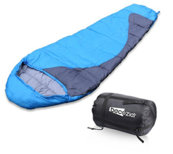 Sleeping Bag With Waterproof Polyester Shell And Portable Stuff Sack Bag, Perfect For 4 Season Camping, Hiking, Backpacking And Traveling, Blue