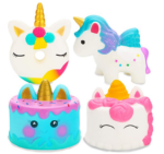 4 Pack Unicorn Squishy Set Narwhale Cake, Unicorn Cake, Unicorn Donut, Rainbow Horse Kawaii Cream Scented Squishy Soft Decompression Squeeze Toys Kids Stress Relief Toy Hop Prop
