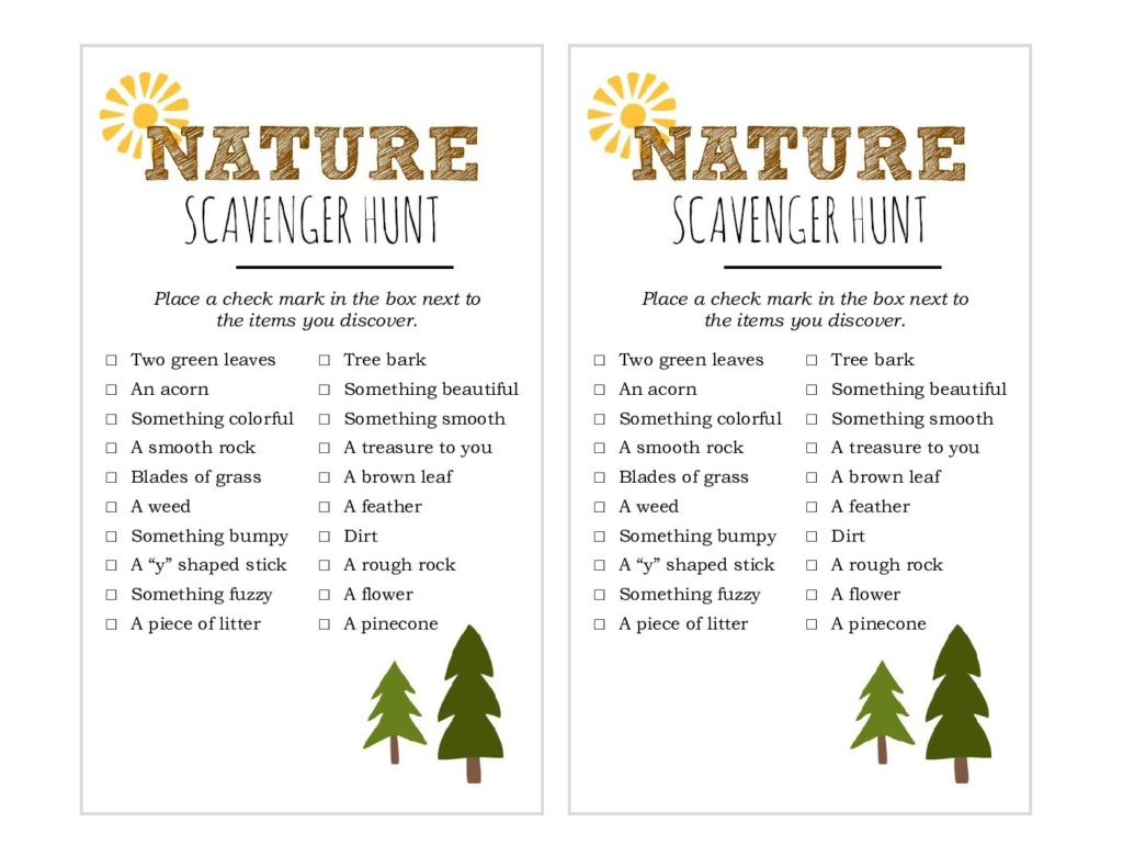 photograph about Family Reunion Scavenger Hunt Printable named Mother nature scavenger hunt absolutely free printable - A Thrifty Mother