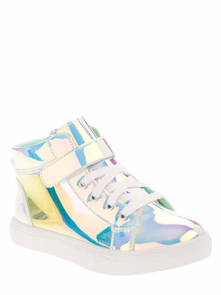Girls holographic high tops
