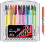 BIC-Intensity-Fashion-Permanent-Markers-Fine-Point-Assorted-Colors-36-Count-Packaging-May-Vary