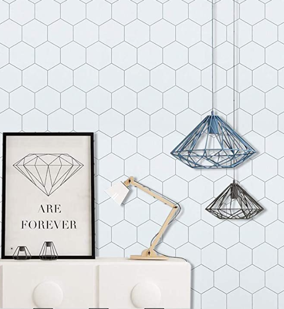 Removable peel and stick wallpaper