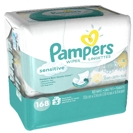Pampers Sensitive Wipes Coupon Deal Low As 0 02 Wipe